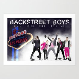 Backstreetboys Vegas Love Art Print