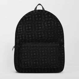 White pattern on a black background. Backpack