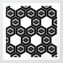 Hanabishi-Pattern, japan, Japanese Art Print