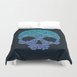 Labyrinthine Skull - Neon Duvet Cover