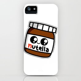nutell nutel a chocolate new choco coco sticker stickers art new fun delicious cute hot 2018 iPhone Case