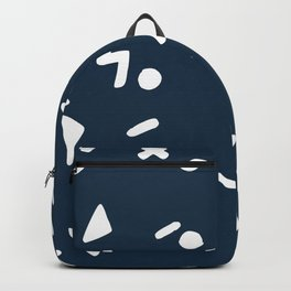 Navy blue pattern confetti Backpack