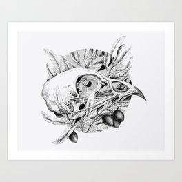 Bones and Olives Art Print