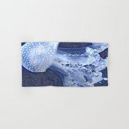 Blue Denim Mosaic Jellyfish Hand & Bath Towel