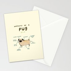 Anatomy of a Pug Stationery Cards