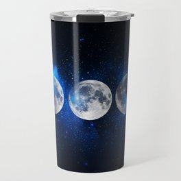 Phases of the Moon Blue Travel Mug