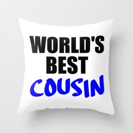the worlds best cousin funny saying Throw Pillow
