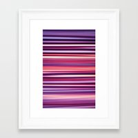 striped Framed Art Prints featuring Striped by Scarlet
