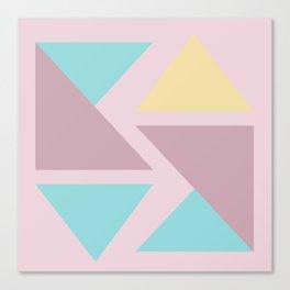Origami triangle art pastel palette Canvas Print
