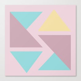 Origami triangle art pastel palette Canvas Print