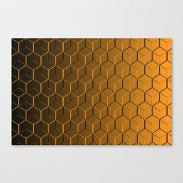 Copper Cubes Canvas Print
