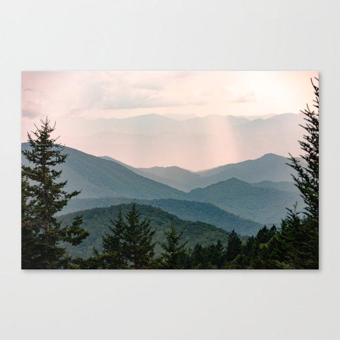 Smoky Mountain Pastel Sunset Canvas Print