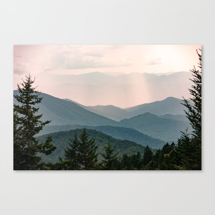 Smoky Mountain Pastel Sunset Leinwanddruck