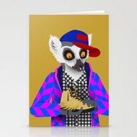 sneaker Stationery Cards featuring Sneaker Lemur by Dyna Moe