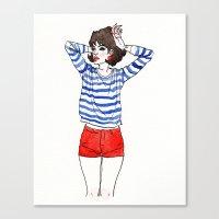 stripe Canvas Prints featuring Stripe by Megan Jeffs