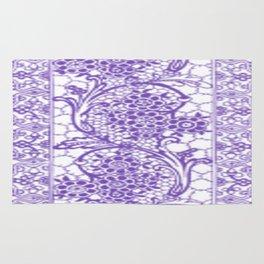 Purple Lace Rug