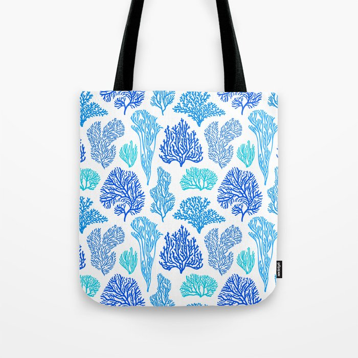 Coral Mania Pattern (blue) Tote Bag