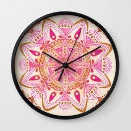 Simple Gold Madala Wall Clock