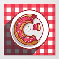 donut Canvas Prints featuring Donut by ArievSoeharto