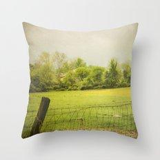 green green grass  Throw Pillow