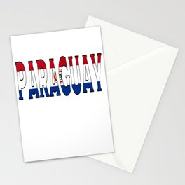 Paraguay Font With Paraguayan Flag Stationery Cards