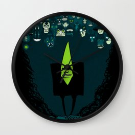Mr. Green and his awesome army Wall Clock