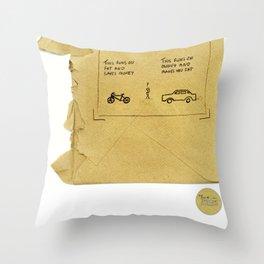 Car=Fat Throw Pillow