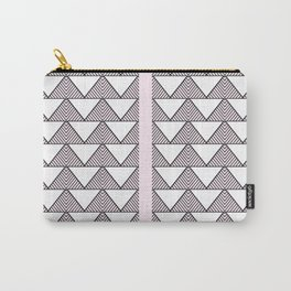 Audrey and Frank - Modern Envelopes Stripe (Pink) Carry-All Pouch