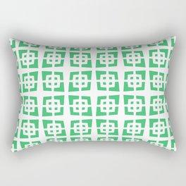 Mid Century Modern Pattern 272 Green Rectangular Pillow