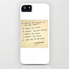 Multiple Choice iPhone Case