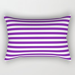 Halloween Two color stripes Violet and White Rectangular Pillow