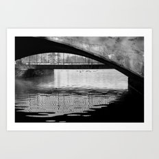 Black and White Study of Lines and Shapes Art Print