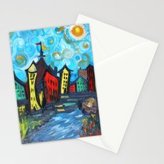 Primary color Cityscape Stationery Cards