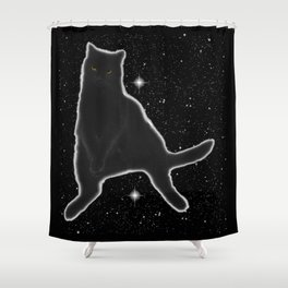 Kiki Kitty Cat in Outer Space Shower Curtain