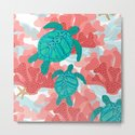 Sea Turtles in The Coral - Ocean Beach Marine by shellybrewerpenko