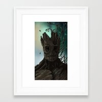 groot Framed Art Prints featuring Groot by ssst