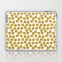 Gold Metallic Foil Photo-Effect Monstera Giant Tropical Leaves Laptop & iPad Skin