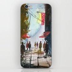 Walk through the street iPhone & iPod Skin