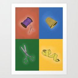 The tailor's kit Art Print