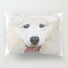 Samoyed herding dogs thick double-layer coat laika expensive Pillow Sham