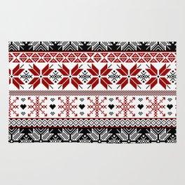 Winter Fair Isle Pattern Rug