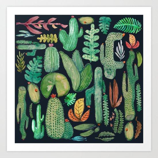 Summer Nature at Night Art Print
