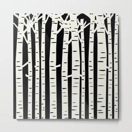 Birch Forest Metal Print