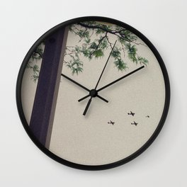 4 Planes in the Sky & Tree, A Wall Clock