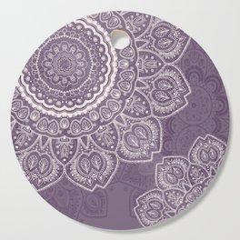 Mandala Tulips in Lavender ad Cream Cutting Board