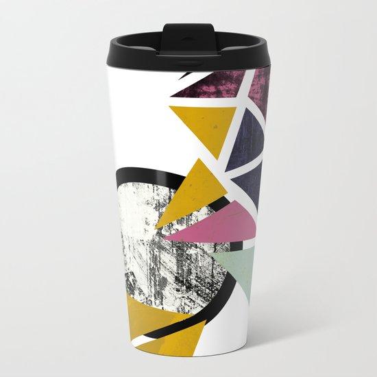 Geometric print Metal Travel Mug