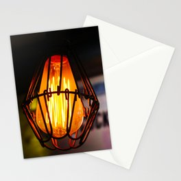 Edison Light Bulb in a Bar in Thailand Stationery Cards