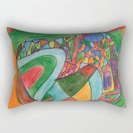 Flying, Floating, Animal, Object Rectangular Pillow