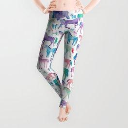 Pastel Unicorn Pattern Leggings