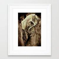 animal skull Framed Art Prints featuring Animal Skull by Franzi Ehmer
